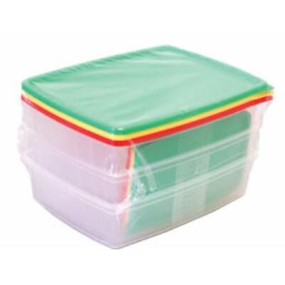 Ételes szett (műanyag, 6 db-os)