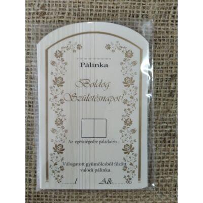 Pálinka címke ( születésnap )